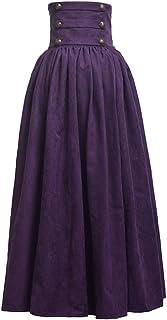 BLESSUME Gothic Lolita Steampunk Pantalone da passeggio ad altezze marrone