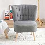 Chester Fabric Accent Occasional Tub Chair Armchair Lounge Bedroom Dark Grey
