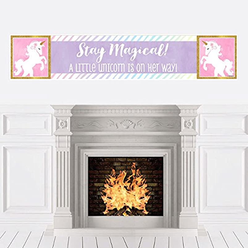 Big Dot of Happiness Rainbow Unicorn - Magical Unicorn Baby Shower Decorations Party Banner wcvemlcu378538