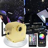 AMKI 16W Bluetooth Twinkle Fiber Optic Star Ceiling Lights Lamp Kit, LED RGBW Engine...