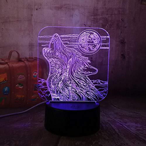 Luz nocturna para niños New Night 3D LED acrílico RGB Night Light USB Touch Control Home Decro Kids Desk Lamp Child Christmas lamp Regalos para niños