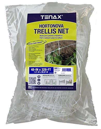 Tenax 084067 100521793 Hortonova SM Plant Trellis Net 48quot x 328#039 White