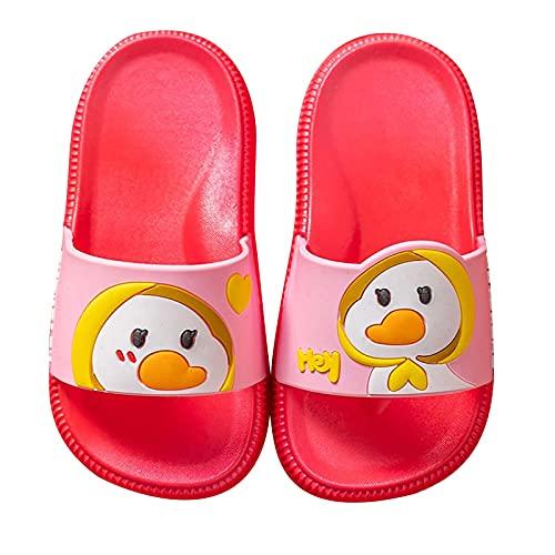 YUYOUG Pantoufles Enfants Maison d'été Piscine et Plage Doux Sandales Garcon Filles Tongs Chaussons Chaussures de Bain Antidérapant - Dessin Animé Goosey