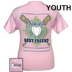 Girlie Girl Originals Diamond Best Friend Preppy Short Sleeve T-Shirt - YOUTH