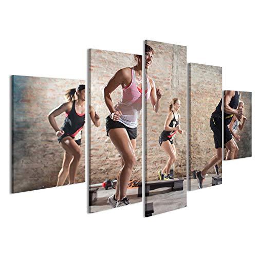 islandburner, Bild auf Leinwand Positive und fröhliche Menschen, die Sich auf Steppern bewegen. Wandbild Poster Leinwandbild