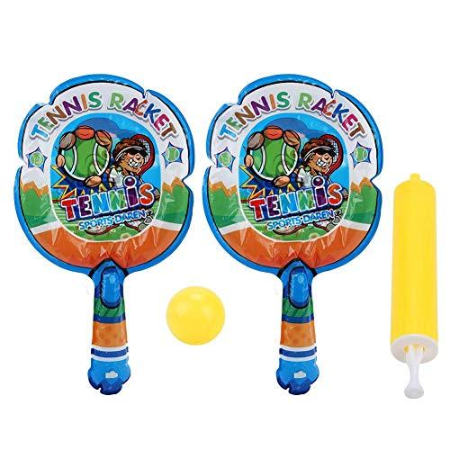 WolfGo Badmintonschläger - 2 Stück leichte aufblasbare Kinder Badmintonschläger Sportspielzeug + 1 Stück aufblasbarer Ball