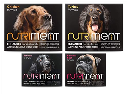 Nutriment Adult Working Dogs Raw Food (Starter Pack of 10 Trays) - Complete...