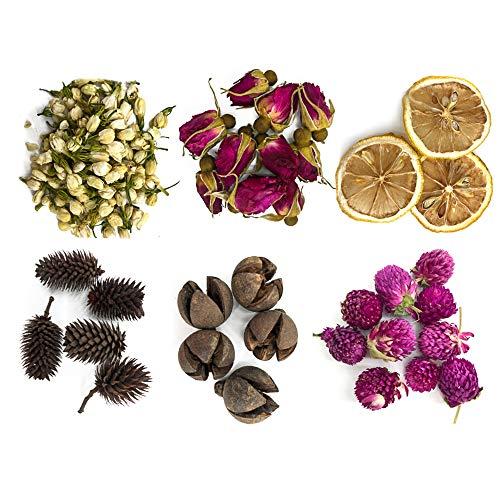 Kraeoke Getrocknete Blüten, Trocken Blütenblätter, 6 Verschiedene Trockenblumen, 6 STK