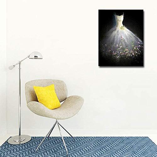 Yycsqy 5D diamantschilderij om zelf te maken, borduurset, kunst, wanddecoratie, boren, bruidsjurk, kunst, schilderen, 40 x 50 cm