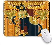 VAMIX マウスパッド 個性的 おしゃれ 柔軟 かわいい ゴム製裏面 ゲーミングマウスパッド PC ノートパソコン オフィス用 デスクマット 滑り止め 耐久性が良い おもしろいパターン (エジプトの金のファラオミイラ)