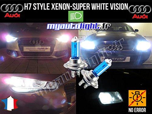 MyAutoLight - Pack ampoules H7 blanc xenon - Pour A3 8V