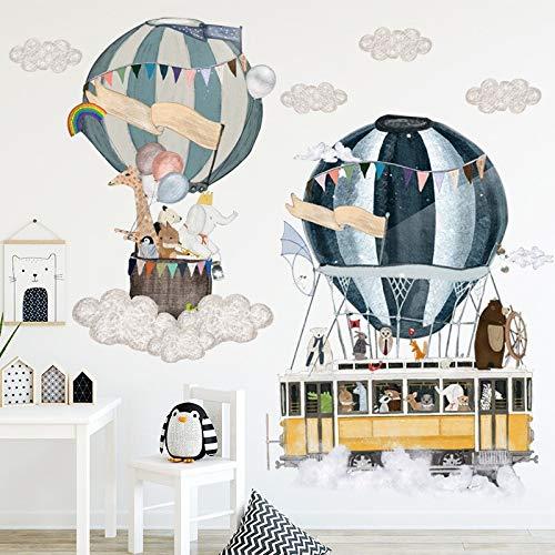 Habitación de los niños pastoral creativo de dibujos animados pegatinas de pared de vinilo autoadhesivo calcomanías de pared protección del medio ambiente mural decoración del hogar