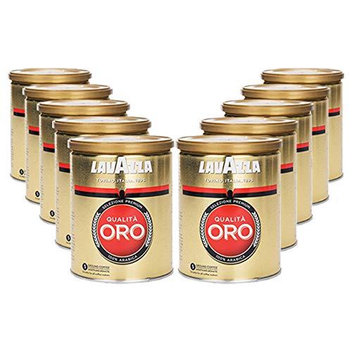 Lavazza Kaffee Qualità ORO, gemahlen in Dose (10 x 250g)