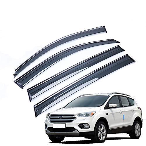 ZTJ Wagen Windabweiser Kompatibel mit Ford Kuga 2013 2014 2015 2016 2017 2018 2019, Acrylglasfenster Wetterschutz Visiere Regen Schnee Sonnenschutz