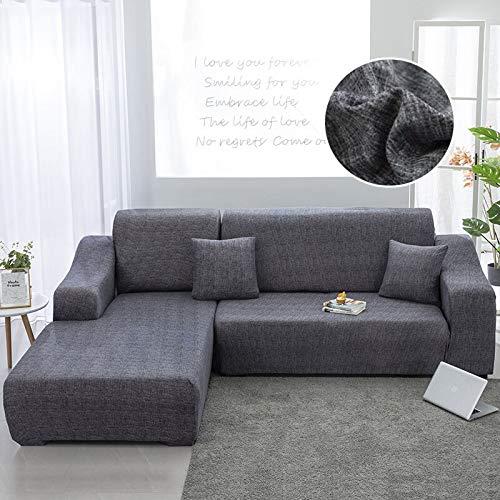 WXQY La Forma de L Necesita Pedir una Funda de sofá de 2 Piezas, Funda de sillón de Toalla de sofá elástica, para Funda de protección de Muebles de sofá de Esquina A24 4 plazas