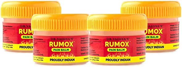 Dr. Vaidya's New Age Ayurveda | Rumox | Ayurvedic Balm For Joint Pain | 12 gms Each (Pack of 4)