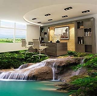 Custom 3D Mural Wallpaper Nature Waterfall PVC Floor Stickers Bedroom Livingroom Bathroom Floor PVC Self-Adhesive Wallpaper 3D-150x105cm