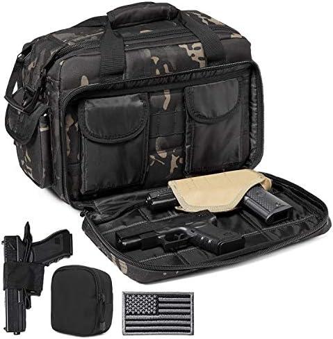 DBTAC Gun Range Bags Deluxe Middle Size Tactical 2 4 Pistol Shooting Range Duffle Bag with Lockable product image