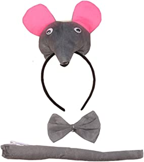 3PCS Animals 3D Cute Headband Party Costume, Ear with Tail Tie