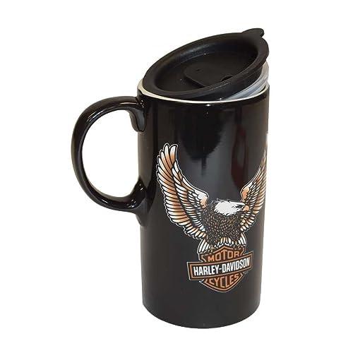Harley-Davidson Travel Latte Mug, Bar & Shield Eagle Tall Boy, 21 oz