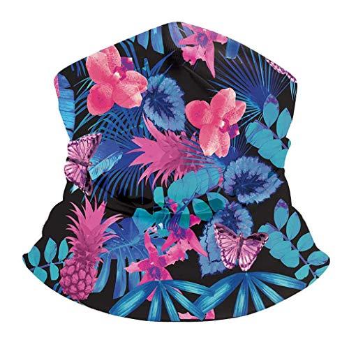Realde Herren Damen Bandana Schal Schlauchschal Mode Schmetterlingsdruck Bindetuch Sonnenschutz Staubdicht Mundschutz Halstuch Sport outdoor Laufen Halstuch für Unisex