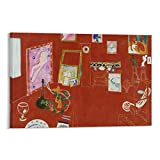 Oldove Expressionist Oil Painting Poster Henri Matisse's Famous Work Red Studio Poster Decorative Painting Canvas Wall Art Living Room Posters Bedroom Painting 16x24inch(40x60cm)