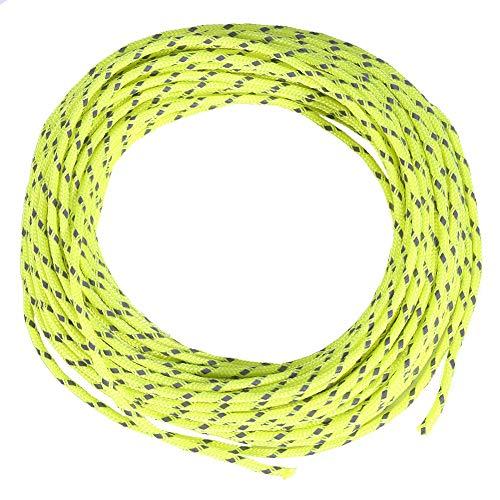 Demeras Cuerda Reflectante Tienda de campaña al Aire Libre Cordón para toldo Nylon Cuerda de Tienda a Prueba de Viento Cuerda Reflectante para Acampar y Senderismo(Verde Fluorescente)