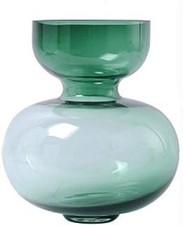 XJJZS Vase à Fleurs Vase en Verre Jardinière Vases en Or Rose Vase en Or Vase en Verre Vases en Verre Vase cylindrique Vas...