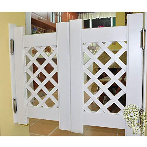 GuoWei Saloon Door Cafe Door Swinging Door Bar Kitchen Restaurant Entrance Indoor Use, Pine Wood, Hinge Included, Support Size Customize (Color : White, Size : 120cmx90cm)