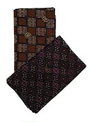 Cotton Colors Mens Cotton Lungi (Multicolour, Free Size) -Pack of 2