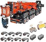 ZJLA Technical Liebherr LTM 11200 Crane, 1:20 Grandes bloques de construcción RC Mobile Crane, Juego de construcción, 7986 bloques y 8 motores MOC Juego de construcción compatible con Lego Technic