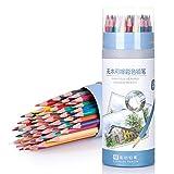 Lápices de colores para adultos y niños,lápiz borrable hexagonal de color aceitoso, Set de 48 lápices de colores,Profesionales y principiantes utilizados para pintar y colorear