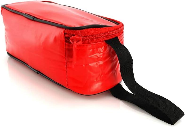 Los Eventos de la Tata. Porta Bocadillos - Portabocadillos infantil reutilizable - fiambrera infantil (Rojo)