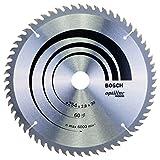 Bosch Lame de Scie Circulaire, 60 Dents, 30mm d'Alésage, 2.8mm Largeur de Coupe, 1.8mm Épaisseur du Corps, 254mm Diamètre