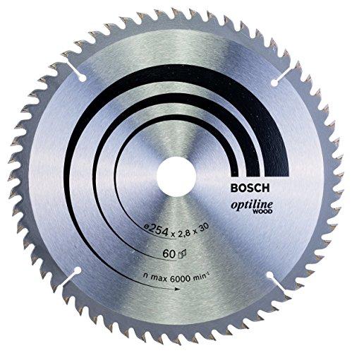 Bosch 2 608 640 444 - Hoja de sierra circular Optiline Wood - 254 x 30 x 2,8 mm, 60 (pack de 1)