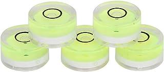 5個 丸型水準器、透明なミニ水準器 水準器、 水平器 丸型気泡管 電子はかり天びん電子はかり 水平校正用 15mmコンパクトポータブル