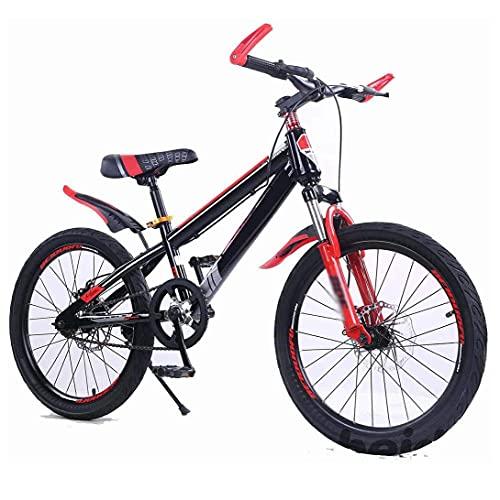 HUAQINEI Bicicleta, Deportes de montaña de una Sola Velocidad, Ciclismo al Aire Libre para niños de 5 a 14 años, cinturón de 16 Pulgadas, sin Soporte Lateral, 20
