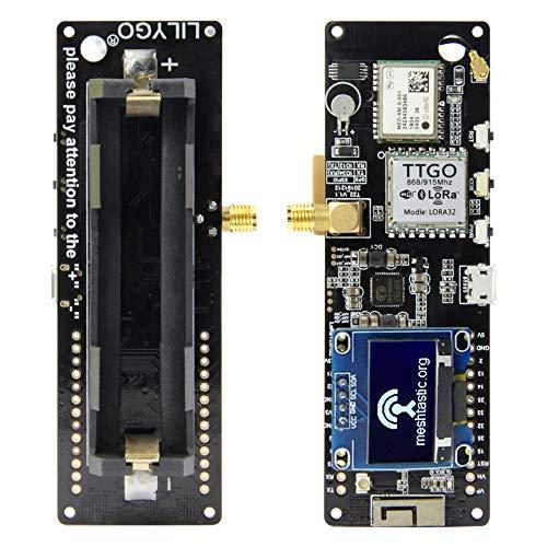 Kedelak TTGO Meshtastic T-Beam V1.1 ESP32 WiFi BT ESP32 GPS NEO-6M SMA 18650 Batteriehalter mit OLED