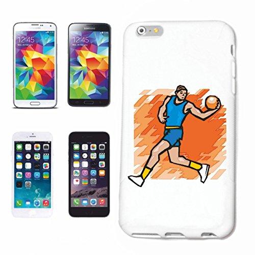 Funda para iPhone 4 / 4S, diseño de baloncesto, balonmano, Mega Sports Hobby