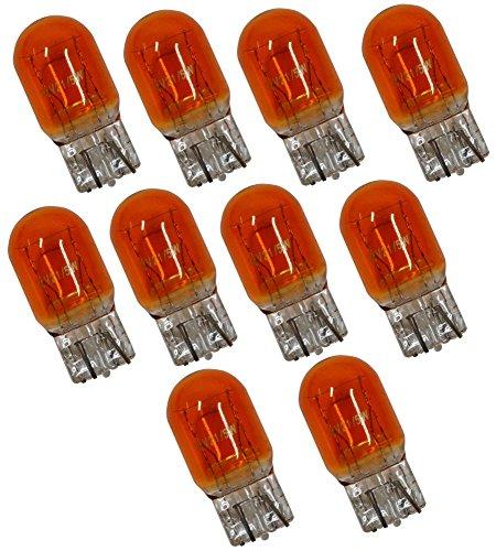 Aerzetix: Lot de 10 ampoules WY21/5W 12V Orange Ambré - C1705