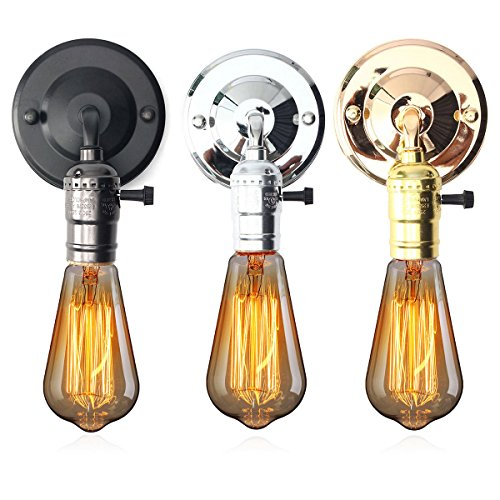 Bazaar E27 antique mur de type interrupteur cru lampe bougeoir lumière porte-douille de l'ampoule luminaire