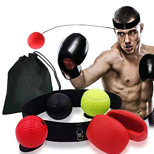 Punch Man! Gym Equipment for men swing ball boxing-home boxing equipment boxing reflex ball head & boxing pads for adult Crazy Catch Speed! Extreme Cardiowirkung
