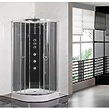 Nuie OPUS04-BL Opus 1200x800mm LH Modern Bathroom Offset Quadrant <span class='highlight'>Shower</span> Cabin Right Hand, 1200mm x 800mm, Black, 1200 x 800 mm