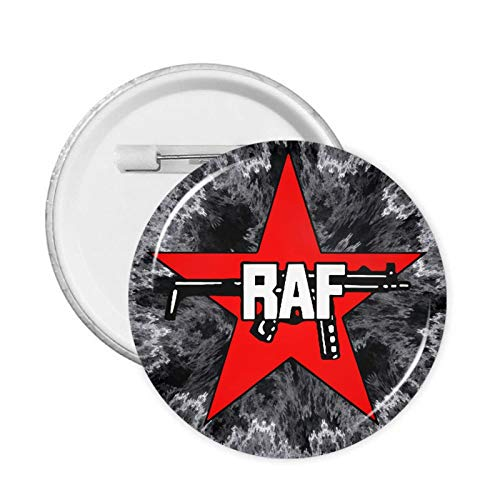 Red A-Faction Round Badge Chest Pins Brooch for Jackets Hats Backpacks Decor 1 Pcs/5 Pcs/12 Pcs