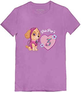 Official Paw Patrol Skye 3rd Birthday Toddler/Kids Girls' Fitted T-Shirt
