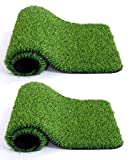 Material: PVC, Color: Green, Size Name: Standard Material: PVC Package Contents: 35 mm Artificial grass Carpet (set of 2) Color: Green, Size Name: Standard Package Content: 35 mm Artificial grass Carpet (set of 2)