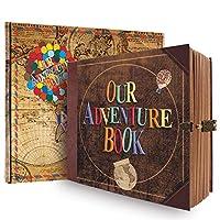 ノートブックジャーナル Our Adventure Book、150GSMプレミアム厚手ペーパークラシックハードカバーノートブック、オフィス/ホーム/学校/ビジネスライティング(ノートブック-レター)