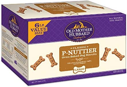Old Mother Hubbard Classic Crunchy Natural Dog Treat P Nuttier Large Biscuits Value Box 6 Pound product image