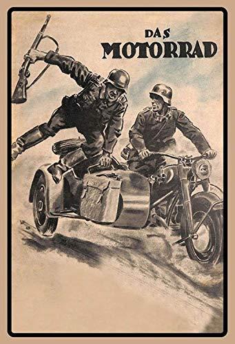 NWFS motorfiets MZ TS 125 metalen bord bord metalen plaat plaat metaal Tin Sign gewelfd gelakt 20 x 30 cm
