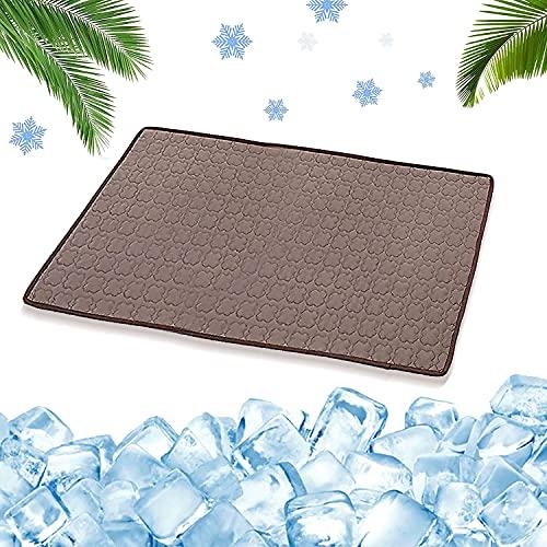 Esterilla de Refrigeración para Perros,70*55 cm Pet Cooling Mat,Alfombra Refrigerante para Perros Gatos Mascotas,Alfombra Refrescante Verano para Perros